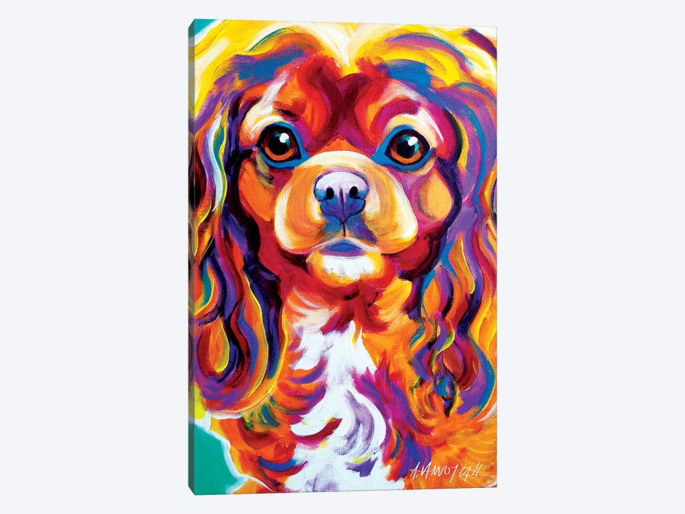 Boonda The King Charles Spaniel by DawgArt 1-piece Canvas Art Print