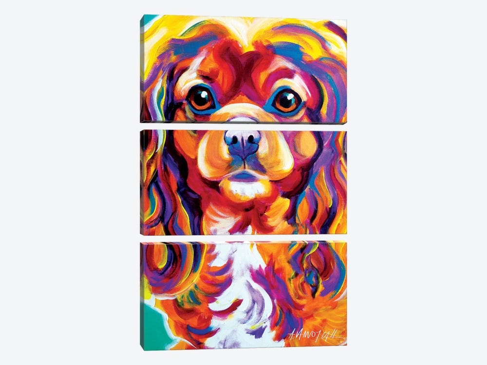 Boonda The King Charles Spaniel by DawgArt 3-piece Canvas Art Print