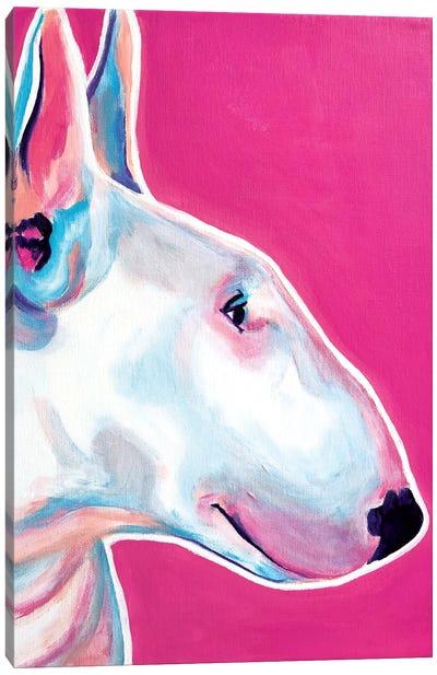 Bubble Gum The Bull Terrier Canvas Art Print