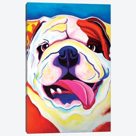 Bully Grin Canvas Print #DWG29} by DawgArt Canvas Art