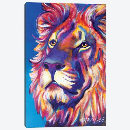 Cecil The Lion Canvas Print #DWG33} by DawgArt Canvas Art Print