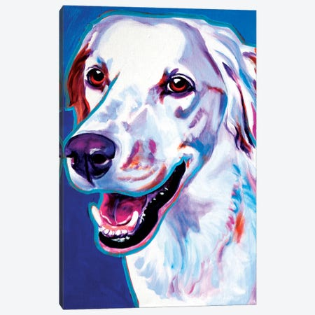 Cheetah The Llewellin Setter Canvas Print #DWG34} by DawgArt Canvas Wall Art