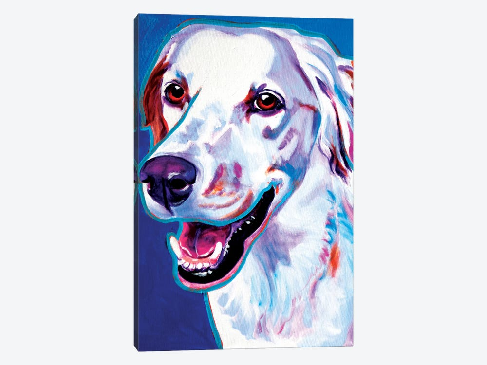 Cheetah The Llewellin Setter by DawgArt 1-piece Canvas Print