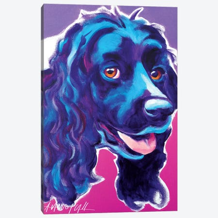 Cocker Spaniel Dixie Canvas Print #DWG37} by DawgArt Canvas Wall Art