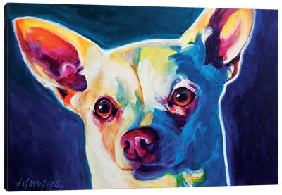 Coco The Chihuahua Canvas Art Print