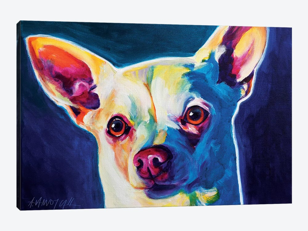 Coco The Chihuahua by DawgArt 1-piece Art Print