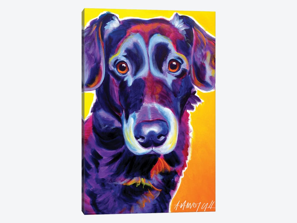 Cole The Labrador by DawgArt 1-piece Canvas Artwork