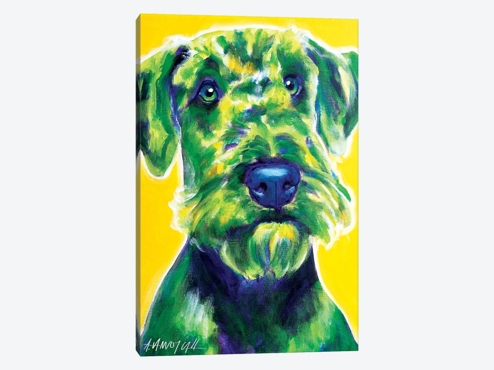Apple Green The Airedale Terrier by DawgArt 1-piece Art Print