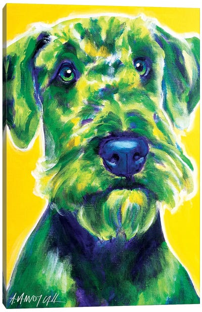 Apple Green The Airedale Terrier Canvas Art Print