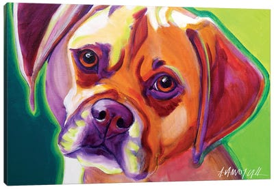Cooper The Puggle Canvas Art Print