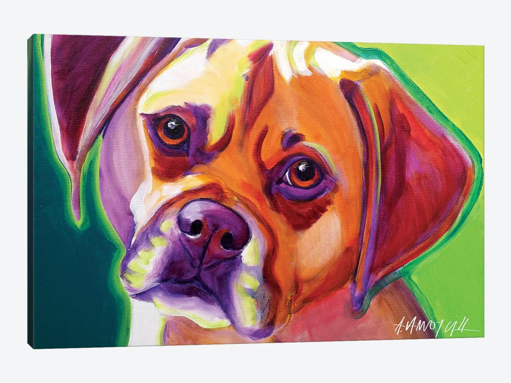 Cooper The Puggle by DawgArt 1-piece Canvas Art