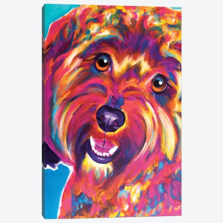 Daisy The Cavapoo Canvas Print #DWG45} by DawgArt Canvas Print