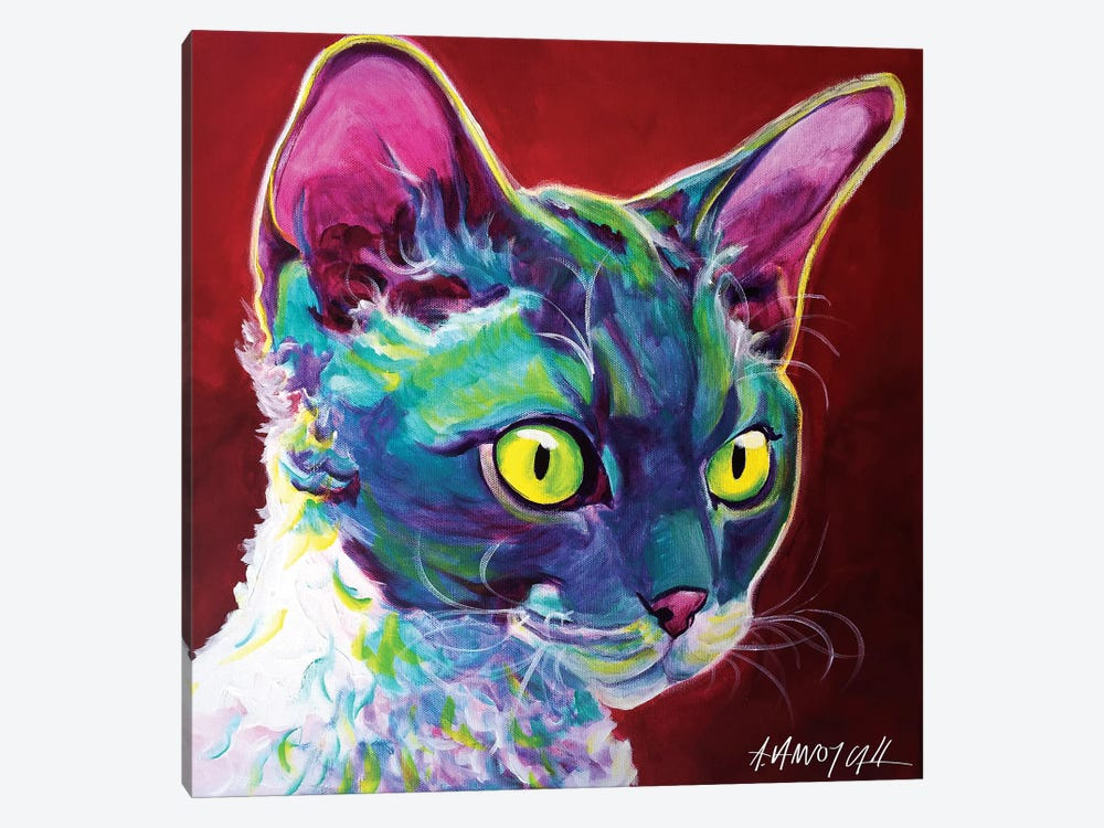 Devon Rex by DawgArt 1-piece Art Print