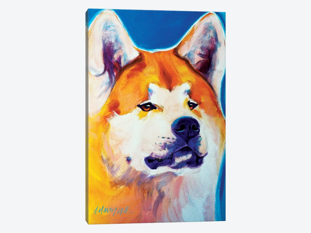 Apricot The Akita by DawgArt 1-piece Canvas Art