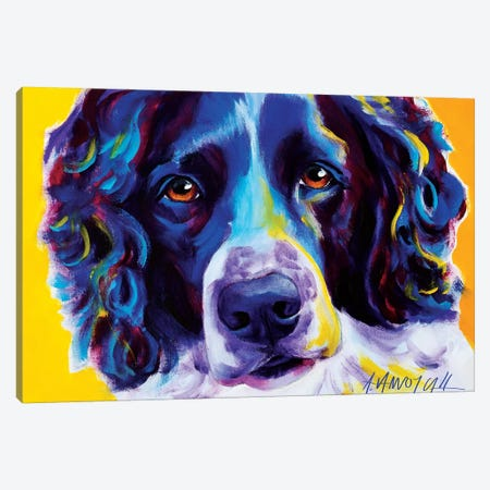 Emma The English Springer Spaniel Canvas Print #DWG55} by DawgArt Canvas Wall Art