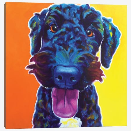 Fletcher Canvas Print #DWG57} by DawgArt Canvas Artwork
