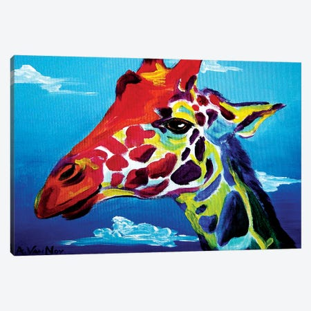 Giraffe Canvas Print #DWG59} by DawgArt Canvas Print