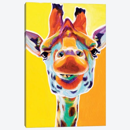 Giraffe III Canvas Print #DWG60} by DawgArt Canvas Artwork