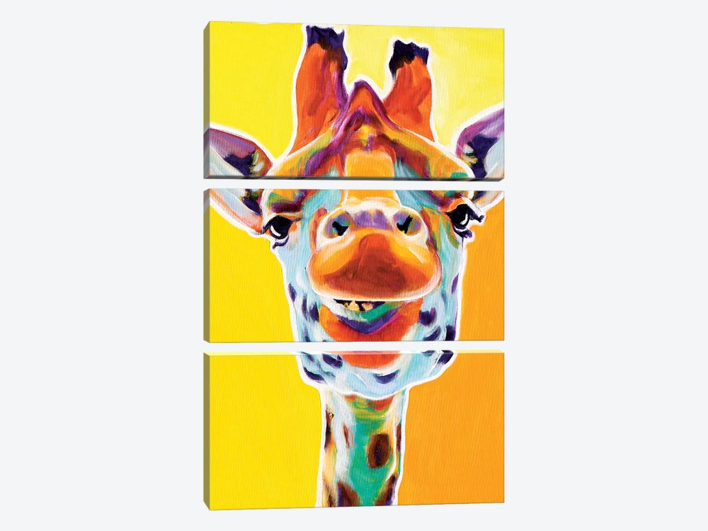 Giraffe III by DawgArt 3-piece Canvas Art