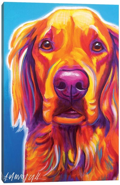 Macie The Golden Retriever Canvas Art Print