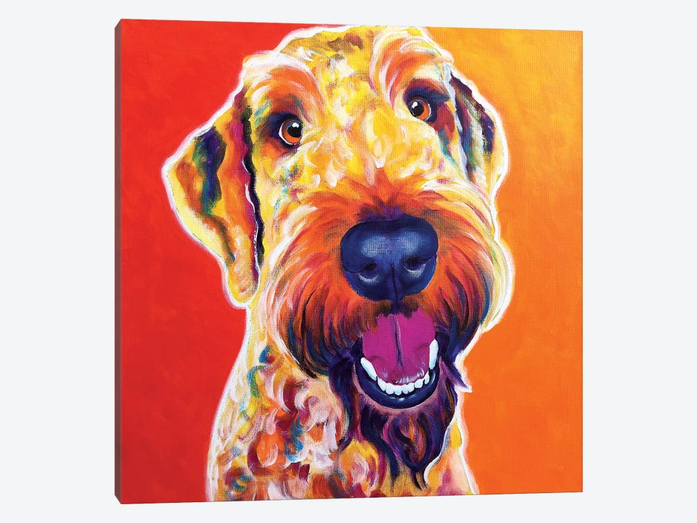 Hank The Airedoodle by DawgArt 1-piece Canvas Artwork