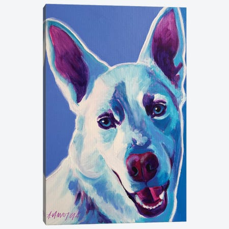 Joaquin The Husky Canvas Print #DWG73} by DawgArt Canvas Art Print