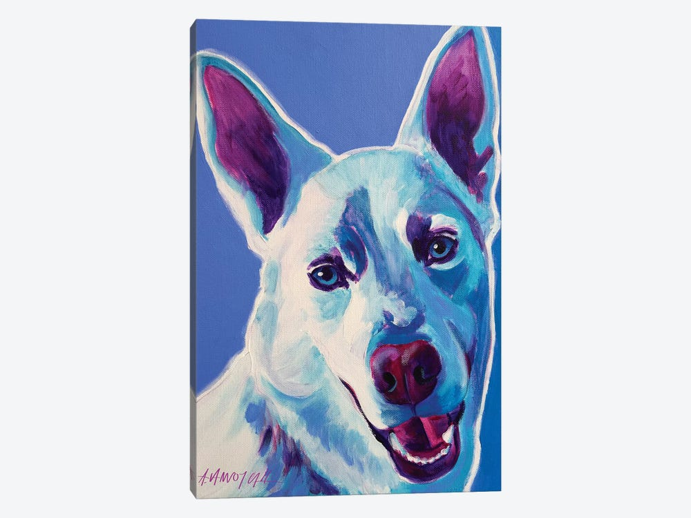 Joaquin The Husky by DawgArt 1-piece Canvas Artwork