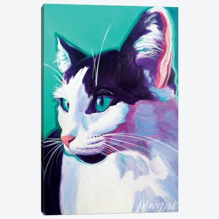 Kitty Canvas Print #DWG78} by DawgArt Art Print