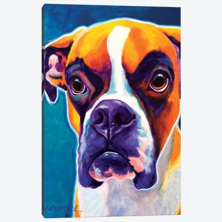 Koda The Boxer Canvas Print #DWG79} by DawgArt Canvas Art Print