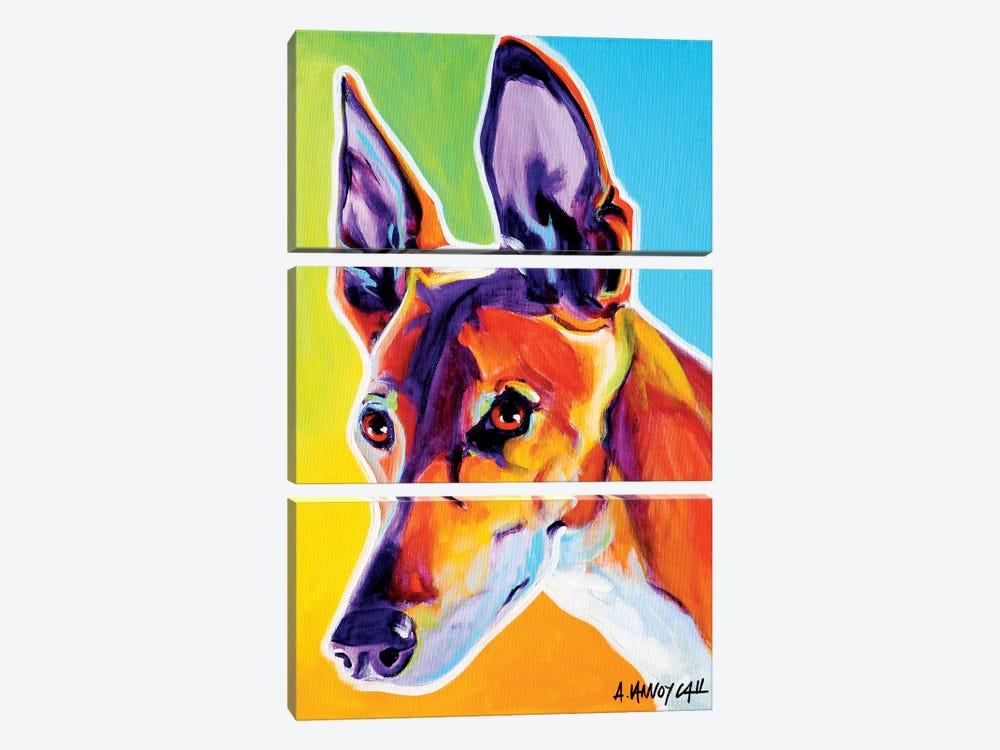 Linus The Pharoah Hound by DawgArt 3-piece Canvas Artwork