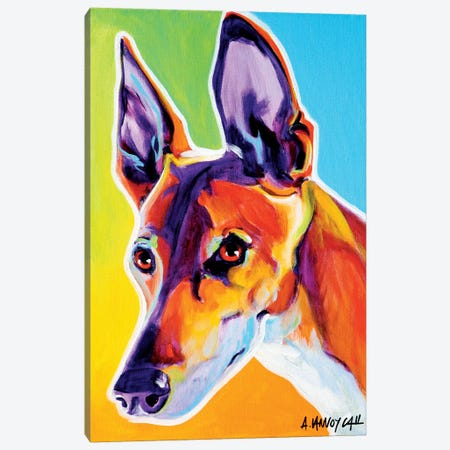 Linus The Pharoah Hound 3-Piece Canvas #DWG84} by DawgArt Canvas Print