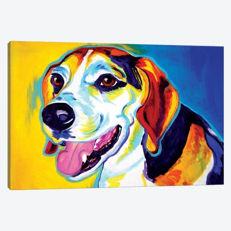 Lou Canvas Print #DWG87} by DawgArt Canvas Art Print