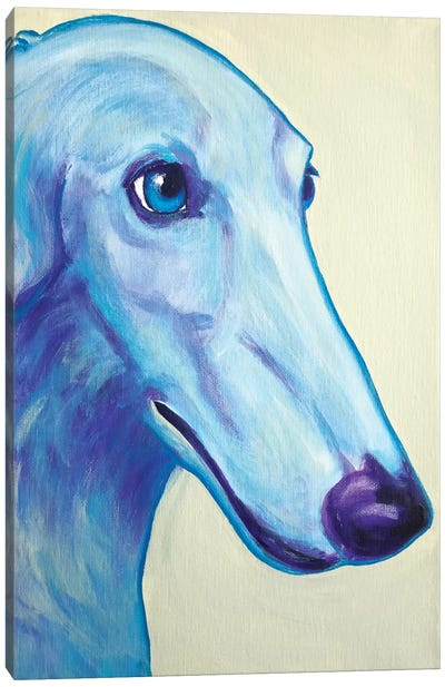 Baby Blue Borzoi Canvas Art Print