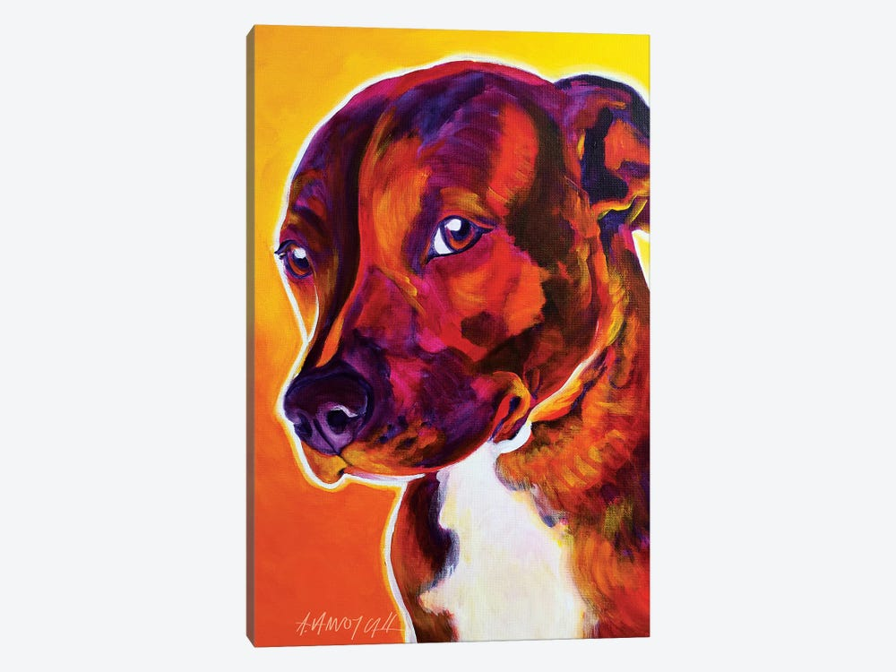 Luna The Pit Bull 1-piece Canvas Art