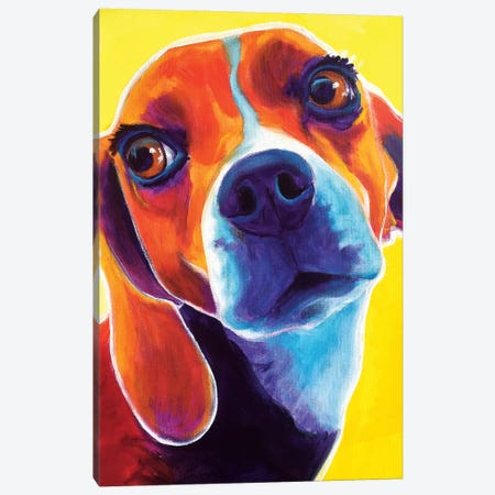 Marcie The Beagle Canvas Print #DWG93} by DawgArt Canvas Art Print