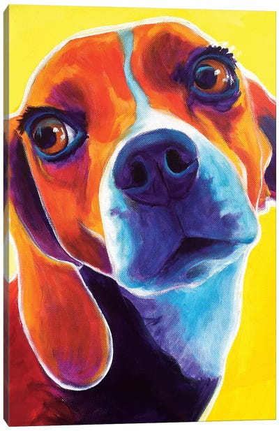 Marcie The Beagle Canvas Art Print