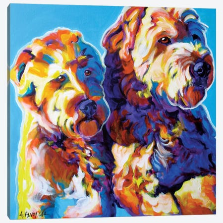 Max And Maggie Canvas Print #DWG94} by DawgArt Canvas Wall Art