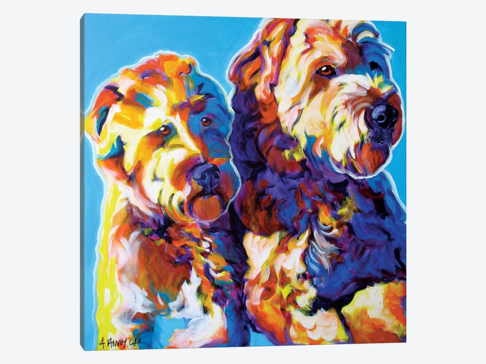 Max And Maggie by DawgArt 1-piece Canvas Print