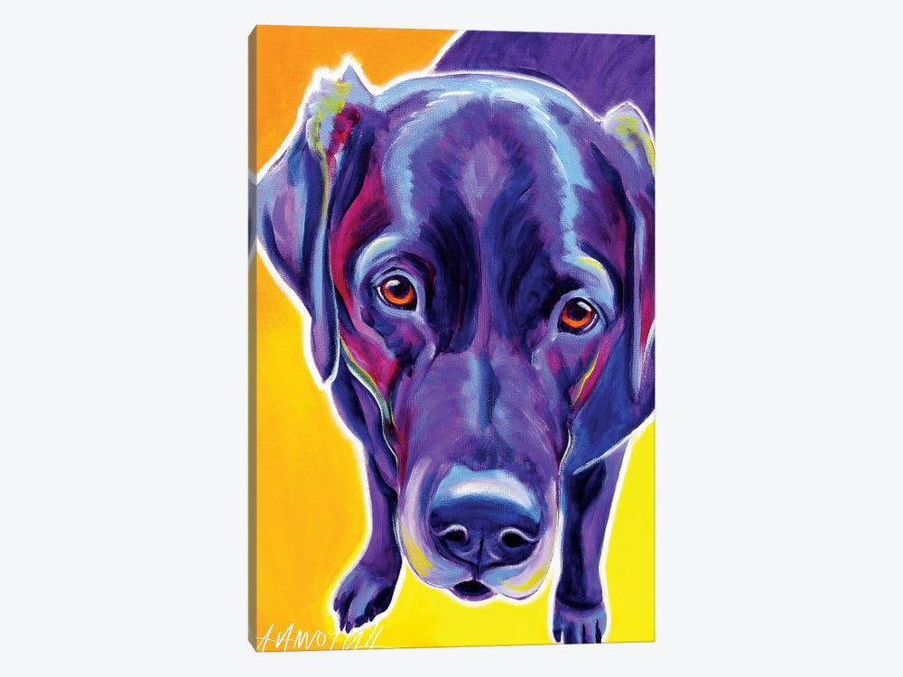 Messier  The Labrador by DawgArt 1-piece Canvas Print