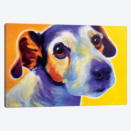Mudgee The Jack Russell Canvas Print #DWG99} by DawgArt Canvas Print