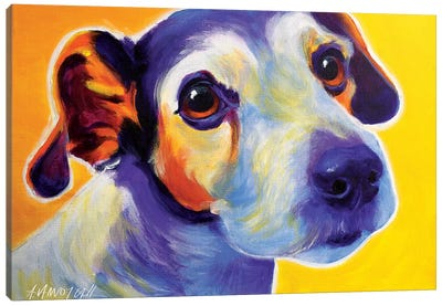 Mudgee The Jack Russell Canvas Art Print