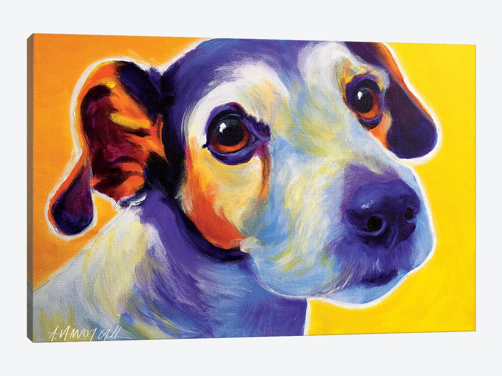 Mudgee The Jack Russell by DawgArt 1-piece Canvas Wall Art