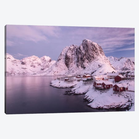 Lofoten Islands, Moskenesoya, Sakrisoy, Norway. Canvas Print #DWI3} by Deborah Winchester Canvas Art