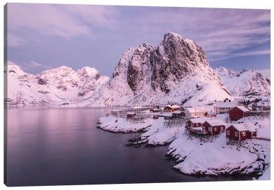Lofoten Islands, Moskenesoya, Sakrisoy, Norway. Canvas Art Print