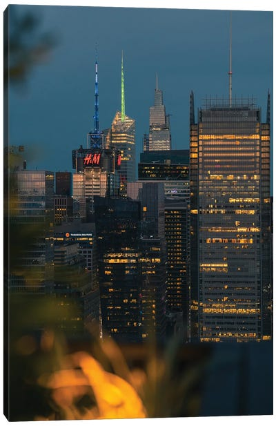 Skyscrapers And Blue Hour Canvas Art Print