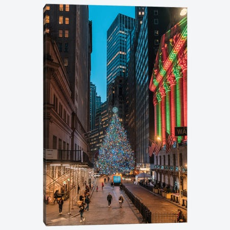 Christmas On Wall Street Canvas Print #DWK22} by Dylan Walker Canvas Artwork