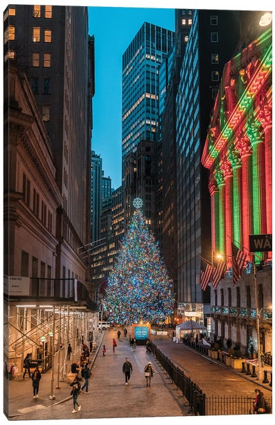 Christmas On Wall Street Canvas Art Print