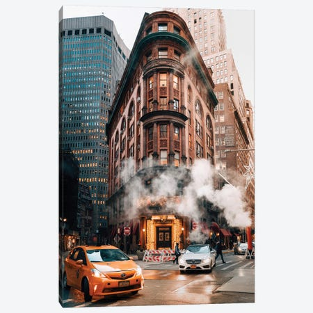 A Classic New York Moment Canvas Print #DWK23} by Dylan Walker Canvas Artwork