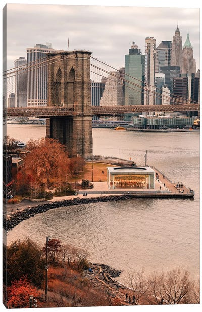 Fall Colors In New York City Canvas Art Print
