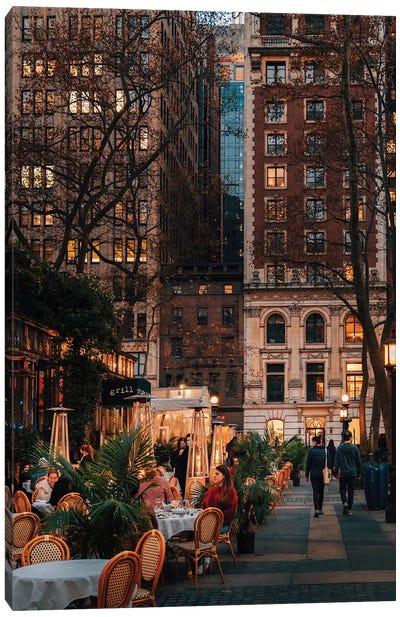 November In Bryant Park, New York Canvas Art Print